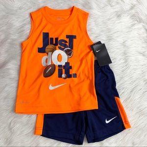 Nike 2pc shorts tank top set, toddler size 4 (xs)
